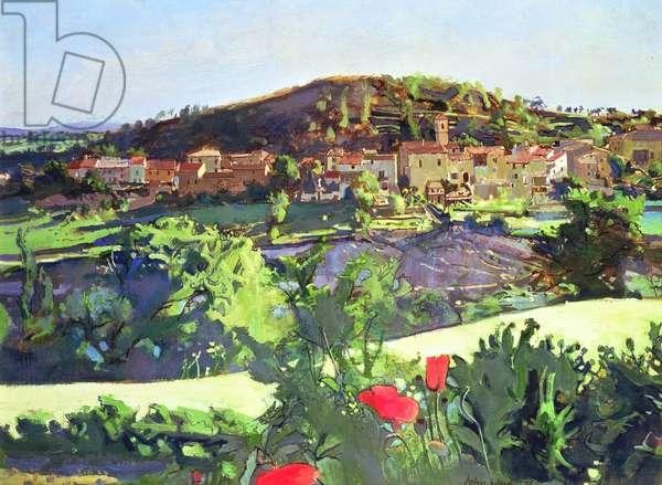 Landscape from Alfred Deller's House, Provence, 1976 (panel)