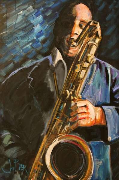 John Coltrane (fresco caseins on canvas)