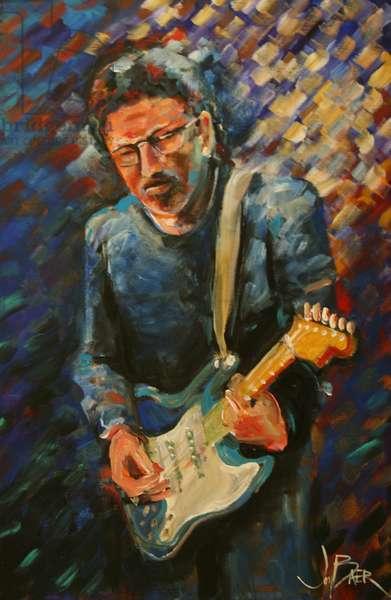 Eric Clapton (fresco caseins on canvas)