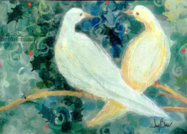 Welcome Doves (plaster fresco)
