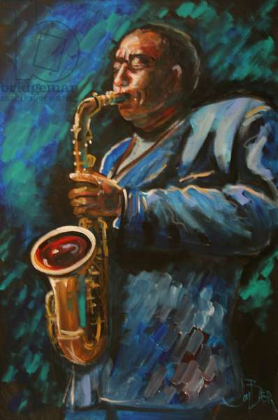 Charlie Parker (fresco caseings on canvas)