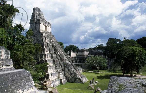 View of Tikal Temple 1, Late Classic Period 600-900 AD (photo)