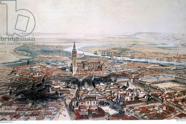 Sevilla (colour litho)