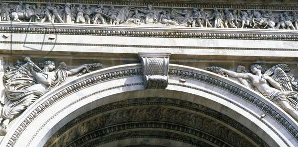 Detail of the Arc de Triomphe, Paris (photo)