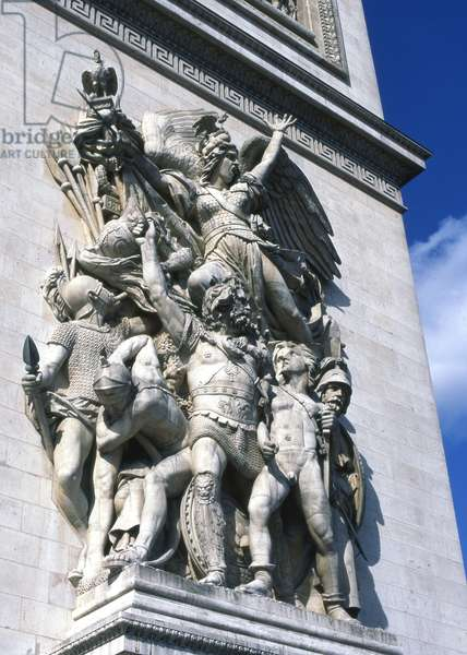 Detail of 'Le Départ de 1792' (or La Marseillaise), Arc de Triomphe, Paris (photo)