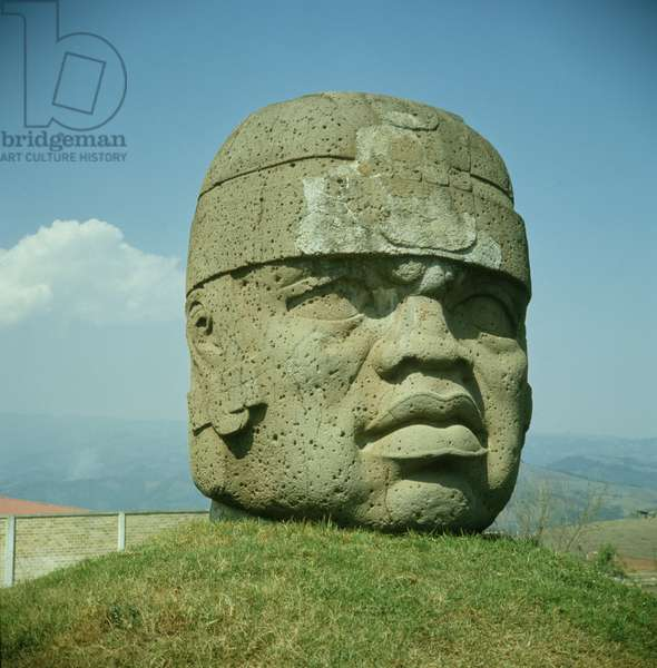 Colossal Head 1 from San Lorenzo, Veracruz, Mexico, preclassic (basalt)