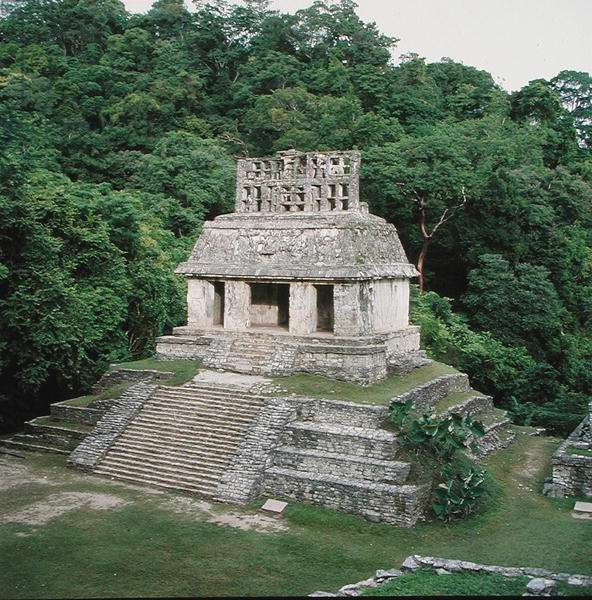 View of the Temple of the Sun, Late Classic Maya (photo)