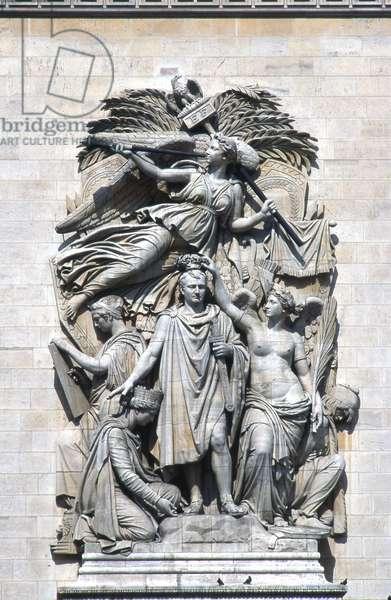 Detail of Le Triomphe de 1810, Arc de Triomphe, Paris (photo)