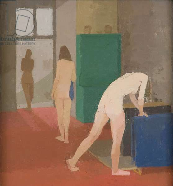 The Blue Towel, 1982-83 (oil on canvas laid on plywood)