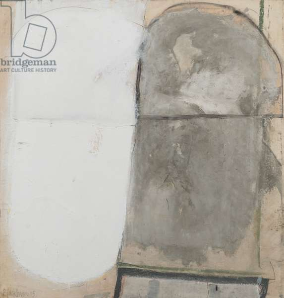 Jerwood Grey with White, 2005 (oil & mixed media on canvas laid on board)