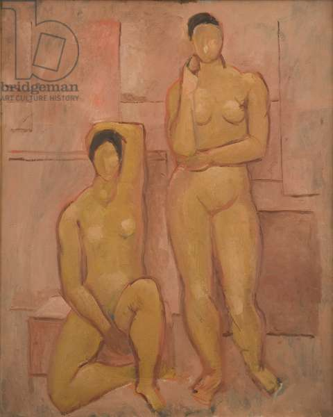 Seated and Standing Nudes, 1927 (oil on canvas)
