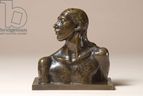 Nan (The Dreamer), Head and Shoulders, 1911 (bronze with a brown patina)