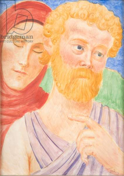 Two Disciples, c.1911 (tempera on gesso prepared panel)