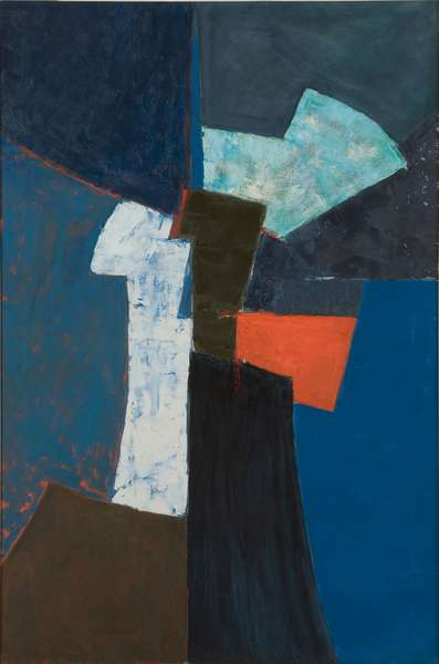 Composition, Blue and Red, 1957 (oil on canvas)