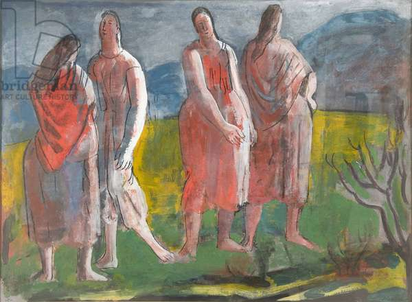 Irish Peasants, c.1940 (gouache on paper)
