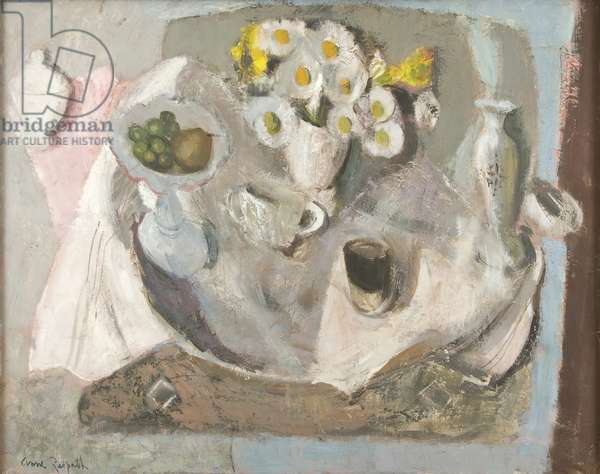 Mainly Grey and White, c.1957 (oil on board)