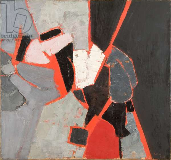 Composition, Red, Black and Grey, 1958 (oil on canvas)