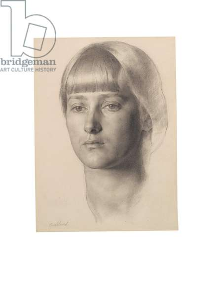 Portrait of Anais Folin, c.1914 (pencil on paper)