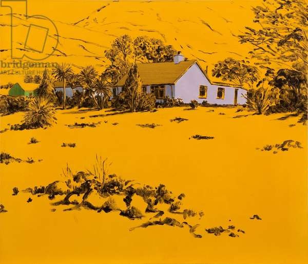 Yellow Rockery, 2003 (oil on canvas)
