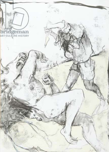 Minotaur, 1992 (ink, charcoal, pastel & monoprint on paper)