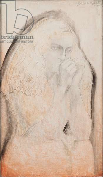 Study for Lisa, 1949 (pencil and oil on board)