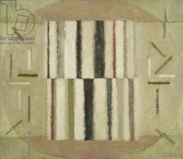 Small Structure - October 1965, 1965 (oil on board)
