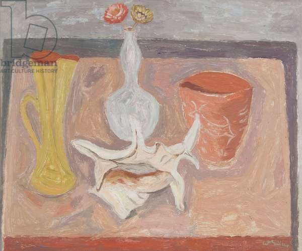 Still Life with Shell, c.1950 (oil on canvas)