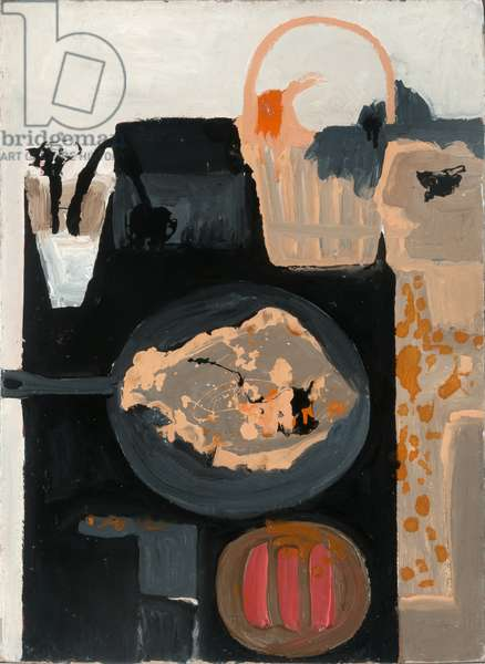 Woman and Fish II, 1957 (oil on board)
