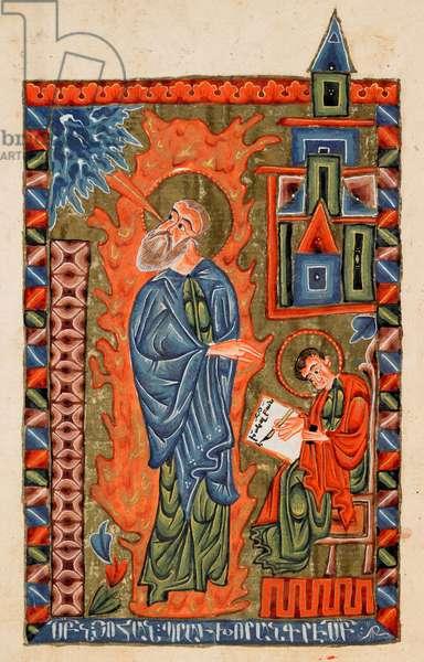 Ms 20 fol.270v St. John the Evangelist, from 'The Four Gospels', 1587 (vellum)