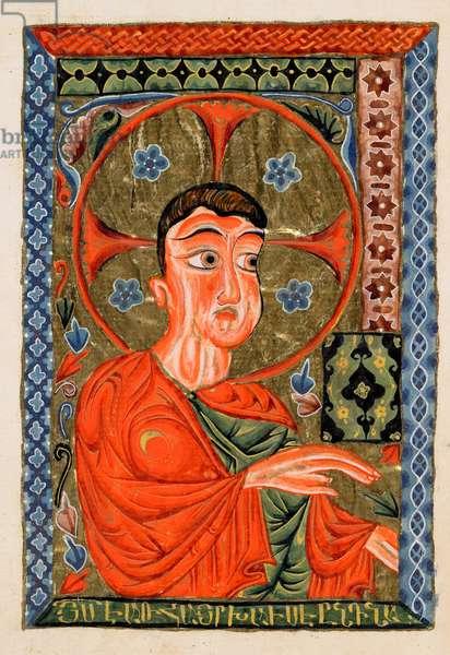 Ms 20 fol.268v Jesus, from 'The Four Gospels', 1587 (vellum)