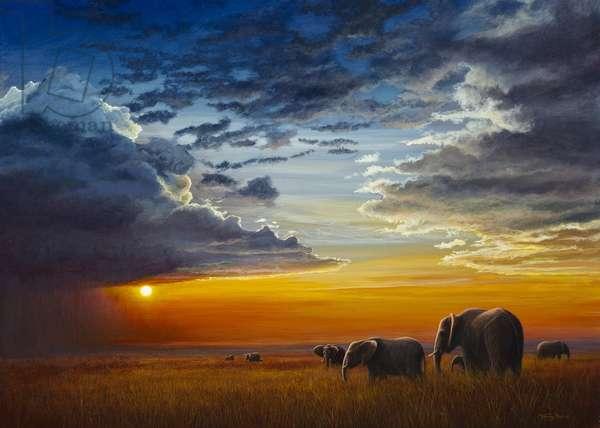 Mara Sundown, 2013, acrylic on board