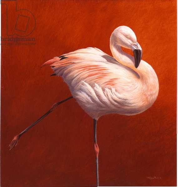Flamebird - Flamingo, 2004 (acrylic on board)