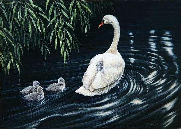 Elegant family, 1990 (acrylic on board)