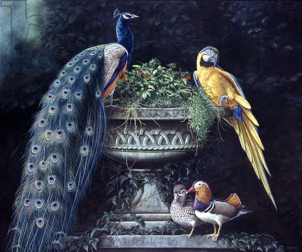 Garden Menagerie 1, 1996, acrylic on board