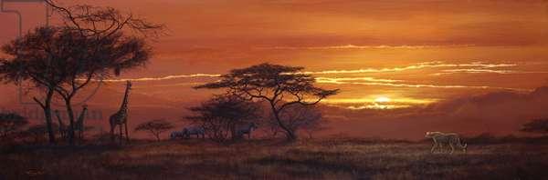 Savannah sundown, 1999, acrylic on board
