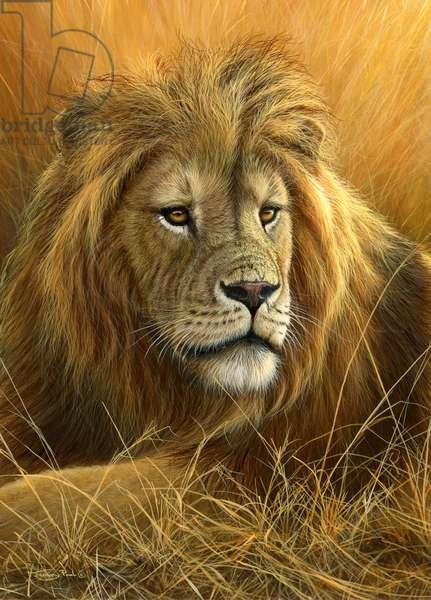 Lion portrait, 2013, acrylic on board