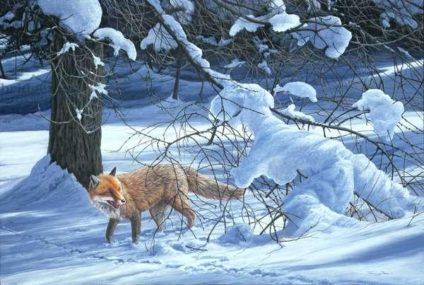 Winter Crossing, 2000 (acrylic on board)
