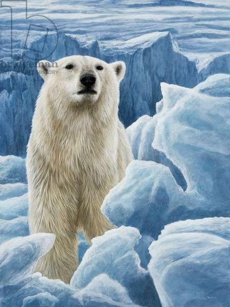 Blue Ice - Polar Bear, 2007 (acrylic on board)