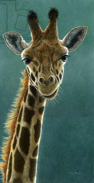 giraffe, 2015, acrylic on board