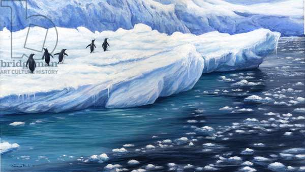 Ice - Gentoo Penguins, 2005 (acrylic on board)