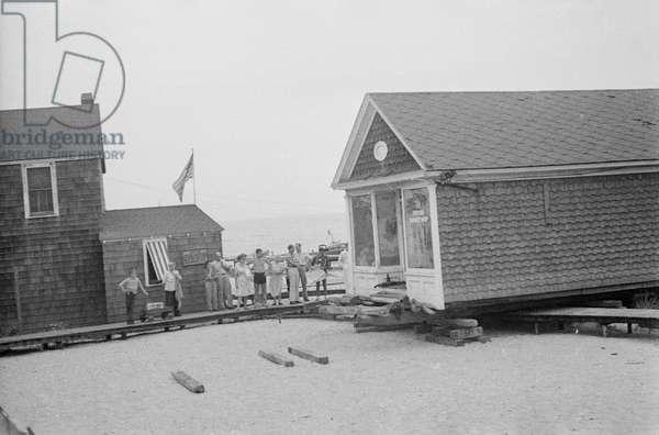 Barber shop at Cherry Grove, Fire Island, New York, summer of 1946 (b/w photo)