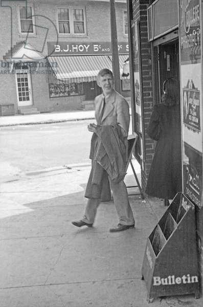 W. H. Auden, 1940s (b/w photo)