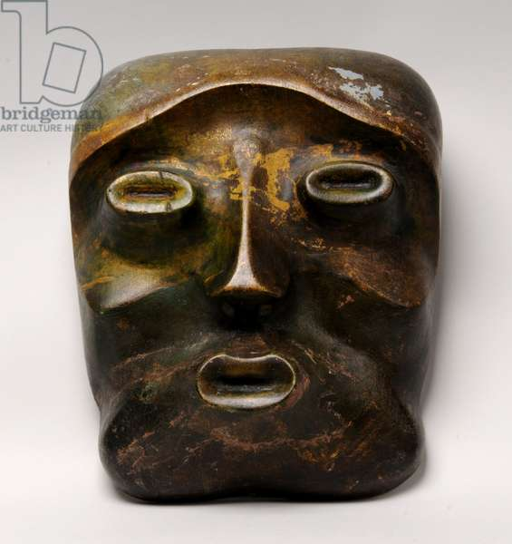 Mask of Apollo in Autumn, 1933 (painted wood) (see also 391822)