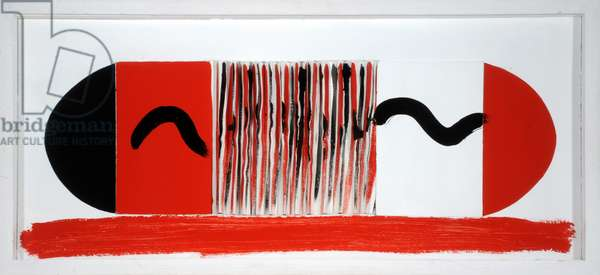 Red and Black, 1995 (oil & collage on paper)