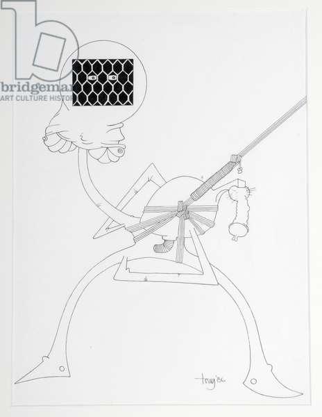 Cat 2, 1986 (pen & ink on paper)