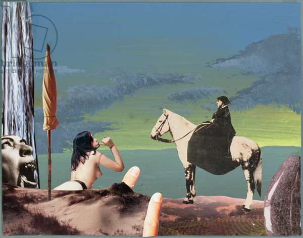 Yesterday Queen Victoria Visited Marquis de Sade, 1995 (collage)