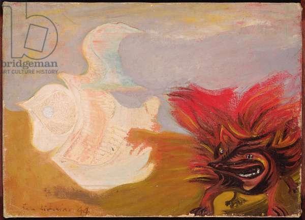 Bird and Beast, 1944 (oil on canvas)