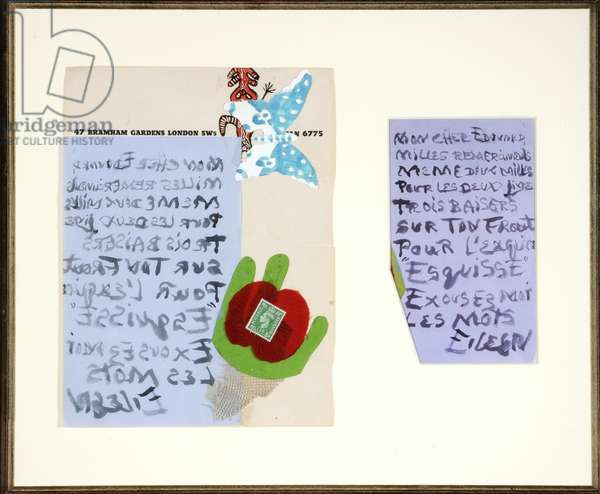 Collaged Letter, c.1939-40 (collage)