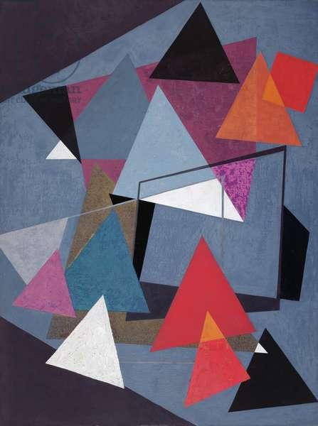 Bright Triangles, 1938 (oil & tempera on canvas)