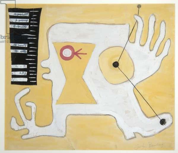Guitar Head, c.1930 (gouache on card)